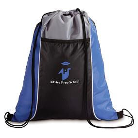 custom school drawstring pack