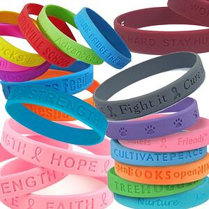 custom school silicon bracelets