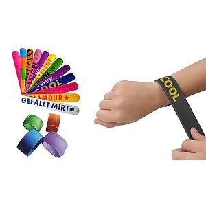 custom school slap bracelets